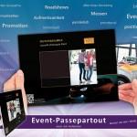 Event-Passepartout Flyer mit Muster Gutschein