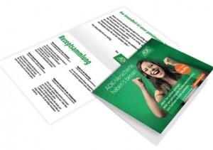 Klapp-Passepartout für Promotion Aktion und Foto einschieben